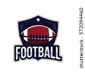 american football logo sport | Shutterstock .eps vector #572094460