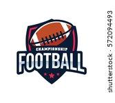 american football logo sport   Shutterstock .eps vector #572094493