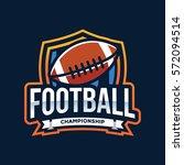american football logo sport | Shutterstock .eps vector #572094514