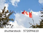 Flag Of Canada Flying Against ...