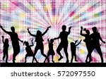 dancing family silhouettes. | Shutterstock .eps vector #572097550