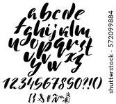 hand drawn font made by dry... | Shutterstock .eps vector #572099884