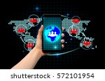 social network and...   Shutterstock . vector #572101954