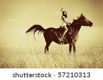 beautiful young woman posing... | Shutterstock . vector #57210313