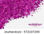 abstract vector 3d hearts on... | Shutterstock .eps vector #572107240