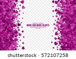 abstract vector 3d hearts on... | Shutterstock .eps vector #572107258