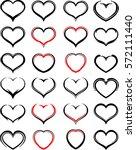 heart icon sketch style vector...