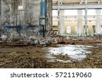 abandoned metallurgical factory ... | Shutterstock . vector #572119060