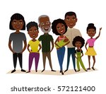big happy black family isolated ... | Shutterstock .eps vector #572121400