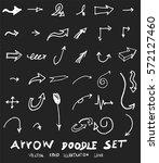 vector hand drawn arrows set... | Shutterstock .eps vector #572127460