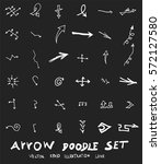 vector hand drawn arrows set... | Shutterstock .eps vector #572127580