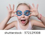 Funny Little Girl With Glasses...