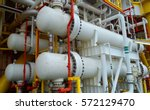 gas cooler at oil and gas... | Shutterstock . vector #572129470