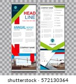 roll up banner abstract... | Shutterstock .eps vector #572130364