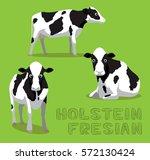 cow holstein friesian cartoon...   Shutterstock .eps vector #572130424