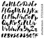 hand drawn font made by dry...   Shutterstock .eps vector #572131618