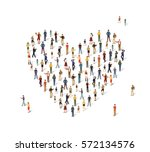 group of people in the shape of ...   Shutterstock .eps vector #572134576