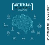 brain artificial intelligence... | Shutterstock .eps vector #572134594