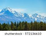 aoraki mount cook national park ... | Shutterstock . vector #572136610