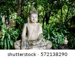 buddha statue among nature  at... | Shutterstock . vector #572138290