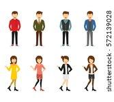 hipster character design vector. | Shutterstock .eps vector #572139028
