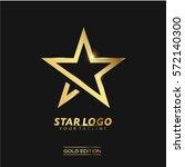 gold star logo vector in... | Shutterstock .eps vector #572140300
