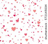 scarlet and pink hearts.... | Shutterstock .eps vector #572145034