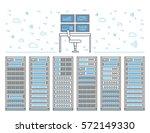 vector high tech internet data... | Shutterstock .eps vector #572149330
