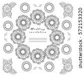vector. wedding. templates for... | Shutterstock .eps vector #572153320
