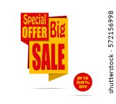 big sale banner. yellow and red ... | Shutterstock .eps vector #572156998