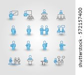 business and meeting set icons... | Shutterstock .eps vector #572157400