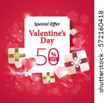 valentine's day special offer... | Shutterstock .eps vector #572160418