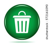 trash can icon. internet button.... | Shutterstock . vector #572161090