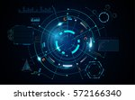 futuristic info hud circular... | Shutterstock .eps vector #572166340