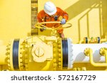 offshore oil and gas operations ... | Shutterstock . vector #572167729
