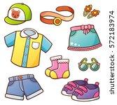vector illustration of cartoon...   Shutterstock .eps vector #572183974