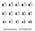 set of thumb up vector icon | Shutterstock .eps vector #572186419