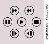 media player control button | Shutterstock .eps vector #572193490