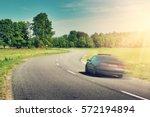 car on asphalt road in...   Shutterstock . vector #572194894