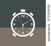 alarm clock.vector icon. | Shutterstock .eps vector #572195920
