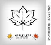 vector maple leaf icon autumn... | Shutterstock .eps vector #572197804