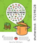 vegetable menu card colorful... | Shutterstock .eps vector #572198128