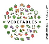 vegetable icon circle... | Shutterstock .eps vector #572198194