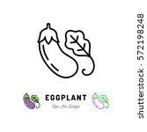 vector eggplant icon vegetables ... | Shutterstock .eps vector #572198248