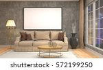 mock up poster frame in... | Shutterstock . vector #572199250