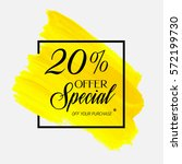 sale special offer 20  off sign ... | Shutterstock .eps vector #572199730