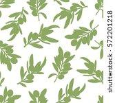 fresh olives hand drawn... | Shutterstock .eps vector #572201218