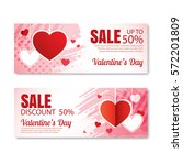 valentine's day sale offer ... | Shutterstock .eps vector #572201809