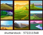 Set Of Landscapes With...