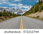 highway 1a  canadian rocky... | Shutterstock . vector #572212744